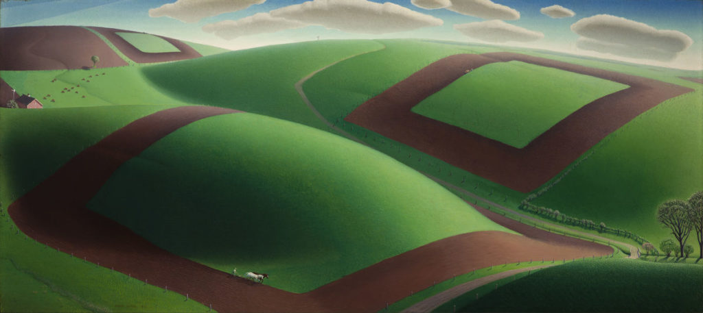 Variety in Art: Spring Turning by Grant Wood