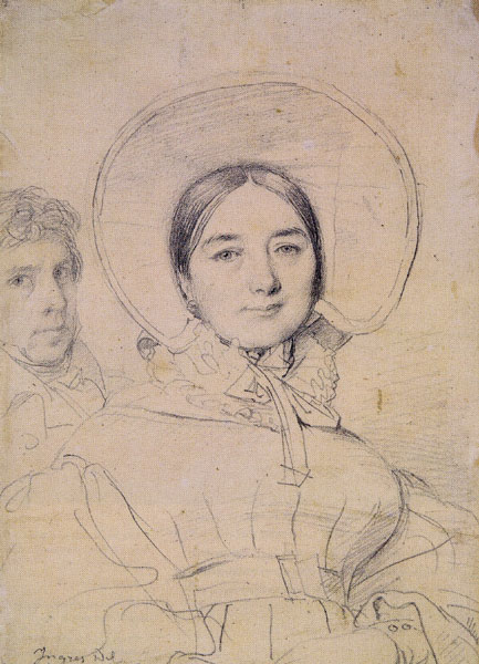 Madeleine Ingres With the Artist by Jean-Auguste-Dominique Ingres, 1830, graphite, 7 x 5¼. Ingres' portraiture epitomizes the fine lines possible with a graphite pencil.