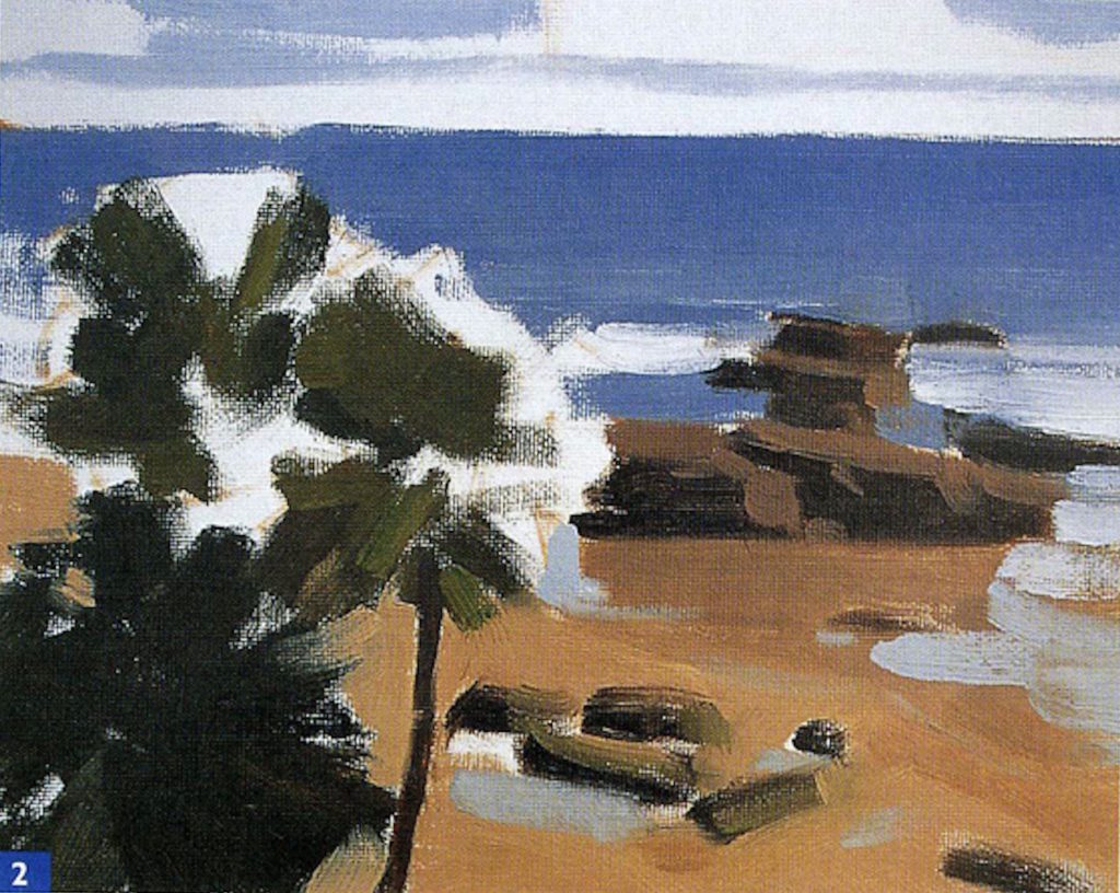 How to Paint En Plein Air: Beginner Landscape Oil-Painting Techniques, Demo 2, Step 2 | Excerpted from Plein Air Painting in Oil by Frank Serrano, Walter Foster Publishing, Laguna Hills, California