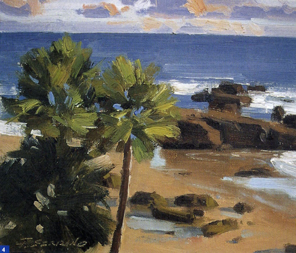 How to Paint En Plein Air: Beginner Landscape Oil-Painting Techniques, Demo 2, Step 4 | Excerpted from Plein Air Painting in Oil by Frank Serrano, Walter Foster Publishing, Laguna Hills, California