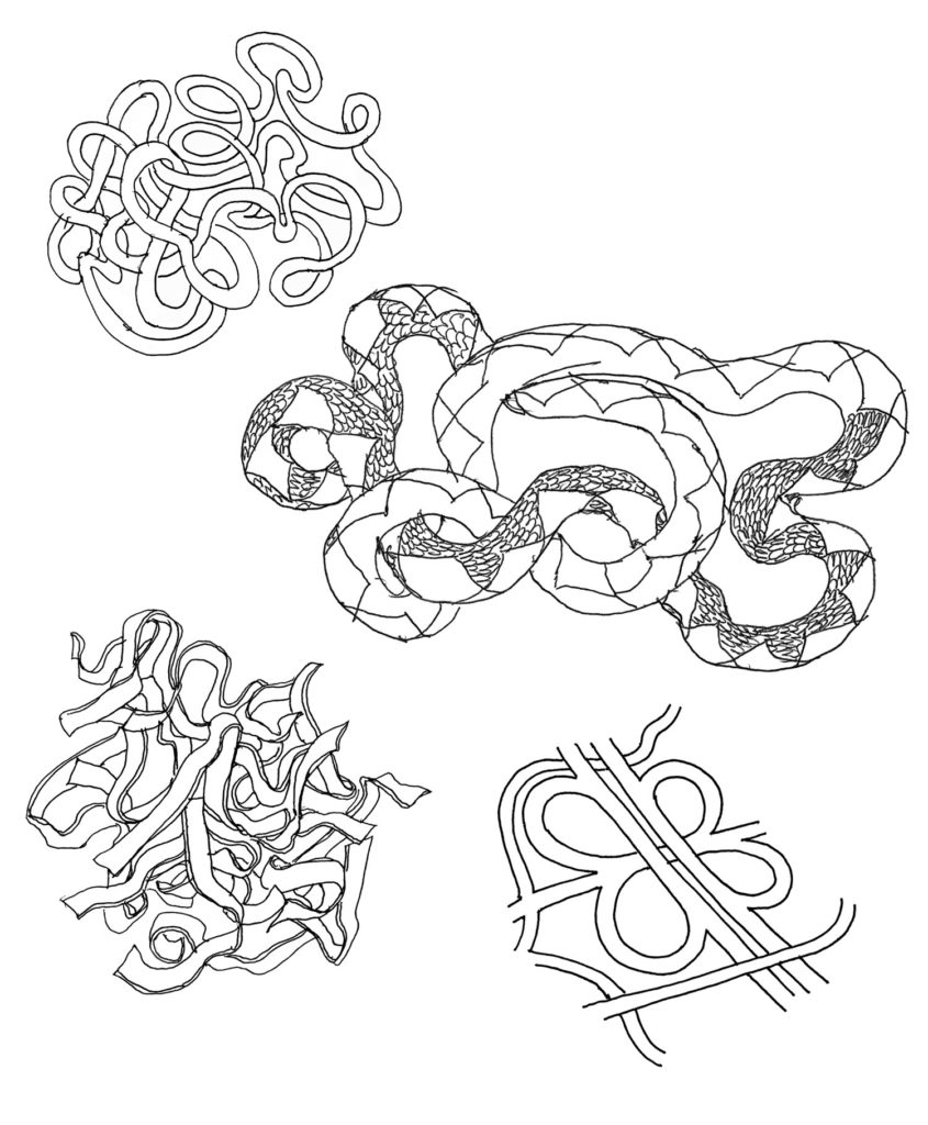 Drawing exercises to strengthen your imagination: tangles