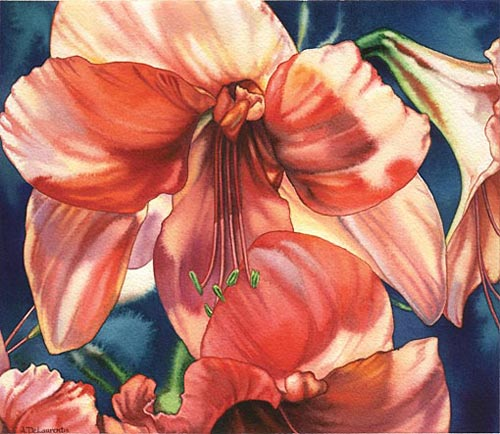 Ann DeLaurentis, Spring Herald (watercolor on paper, 12x12)