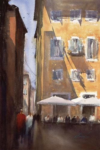 Keiko Tanabe, Roma, Italia XXVIII (watercolor on paper)