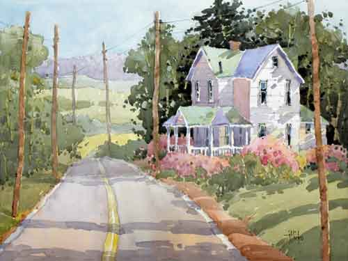 Joyce Hicks watercolor landscape