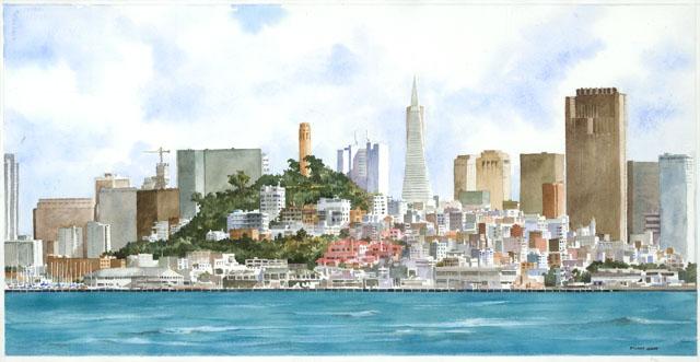stuart givot, watercolor artist, creativity workshop, watercolor landscape, limited palette