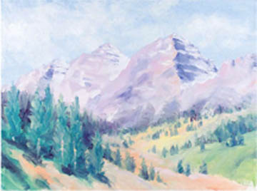 free oil demo mountains with primary colors artists network
