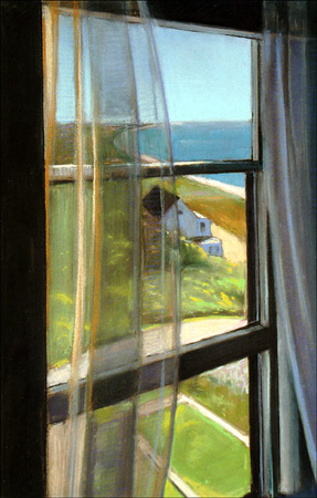 James Kimak, Sea Window (pastel)