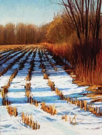 The Depth of Winter (pastel) by Liz Haywood-Sullivan | pastel landscape in winter