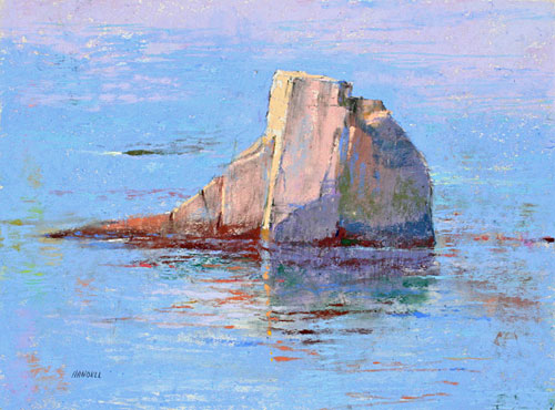 rock in water | water painting