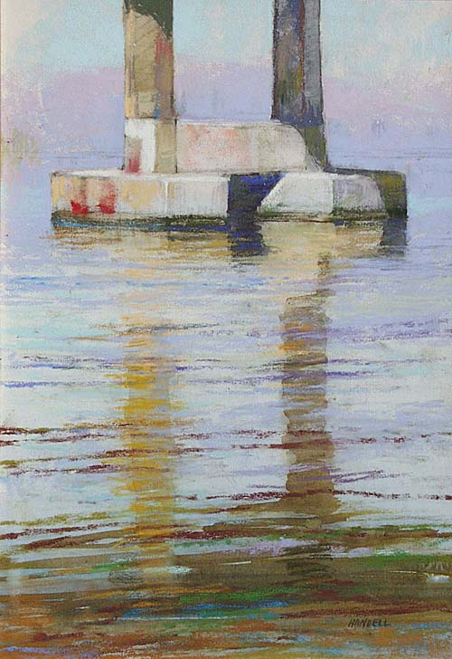 painting of pilings   water painting