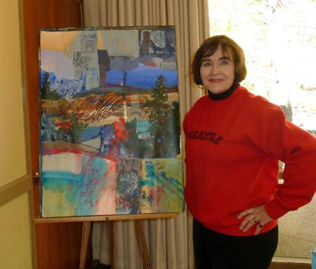 Betsy Dillard Stroud acrylic demo