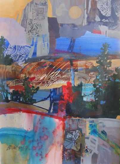 Betsy Dillard Stroud, Dreams of Yosemite (acrylic on paper, 30x22)