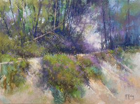 Edge of the Bank, pastel by Richard McKinley