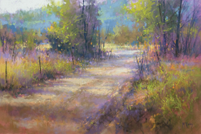 Shadow Lane, pastel by Richard McKinley