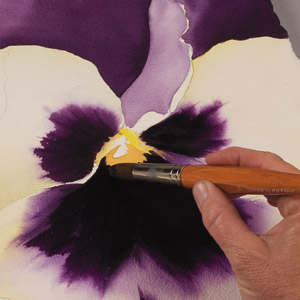 Birgit O'Connor, watercolor flower painting, petals 3