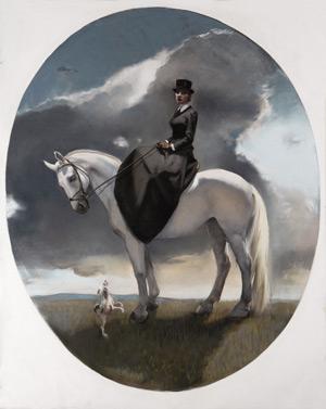 Equestrienne Self-Portrait by Gaela Erwin