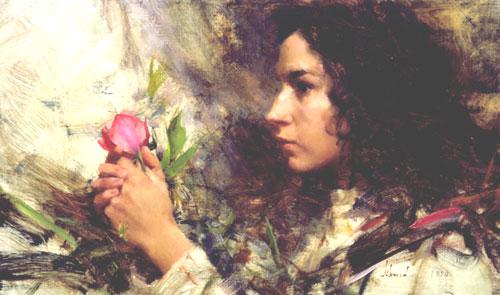 oil portrait painting by Richard Schmid