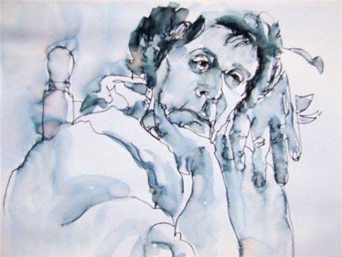 Portrait drawing by Joy Thomas.