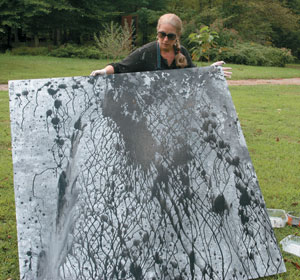 Large Canvas demonstration with Mixed Media, Patricia Bellan-Gillen image 5