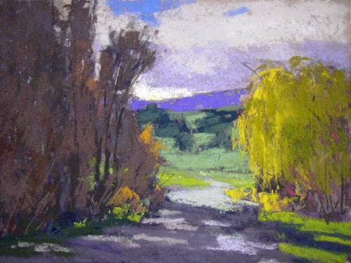 Waning Autumn (pastel, 8x10) by Terri Ford