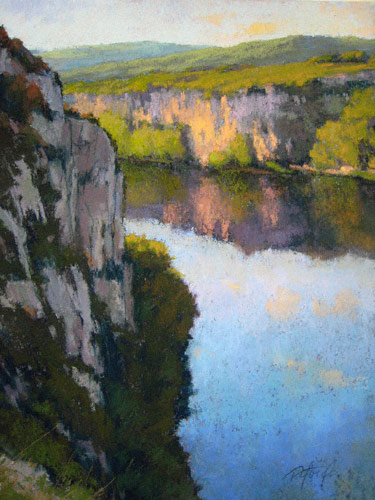 River Bluffs (pastel, 16x12) by Terri Ford