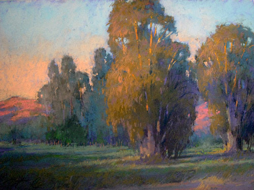 Placid Dusk (pastel, 12x16) by Terri Ford
