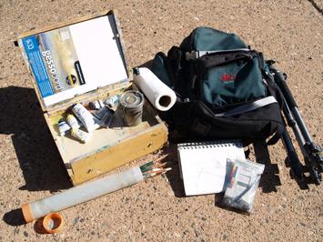 plein air gear art supplies oil pastel acrylic watercolor