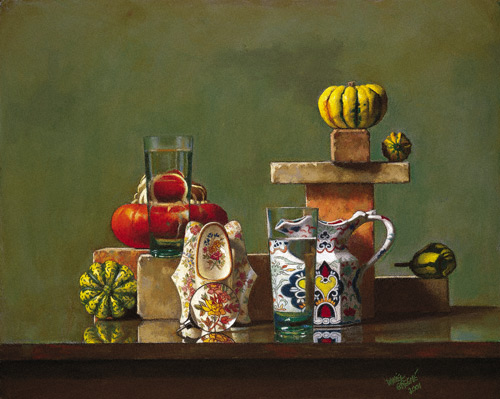 pastel still life painting by Daniel E Greene