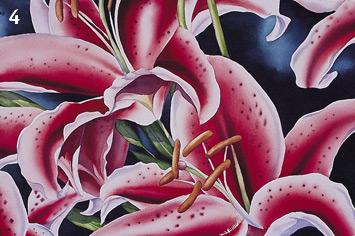 Birgit O'Connor, watercolor flower painting, stamens