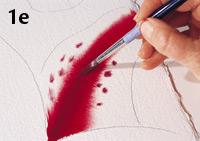 Birgit O'Connor, watercolor flower painting, adding details 2