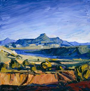 Quiet Sentinel (oil, 44x44) by Louisa McElwain