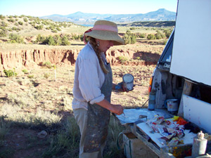 Louisa McElwain painting the Southwest