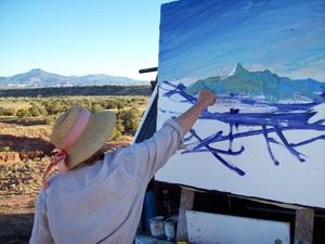 painting mountains en plein air