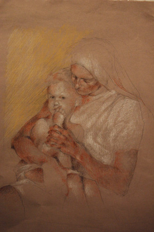 Study for Mother and Child by Lauren Tilden
