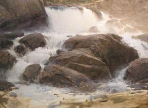 landscape painting demonstration