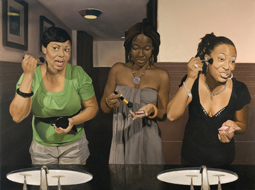 Girl's Night Out, (oil on canvas, 30x40) by Derek McGowan
