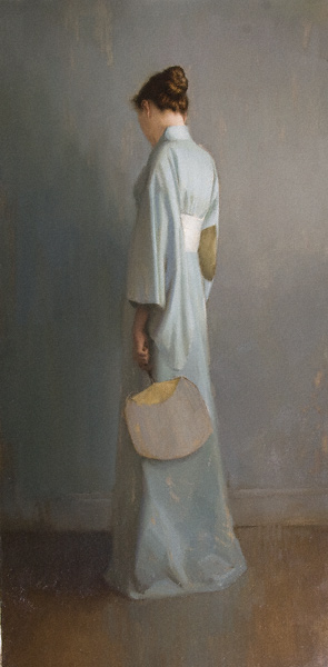 Harmony in Blue Green (oil, 48x24) by Aaron Westerberg