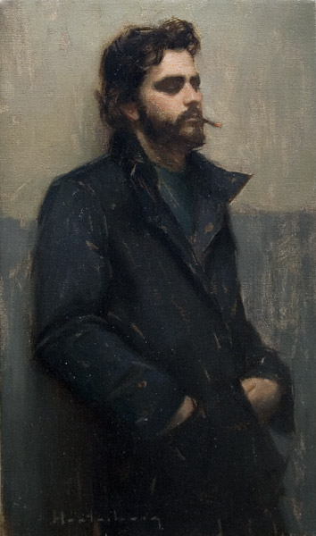 Introspect (oil, 20x12) by Aaron Westerberg