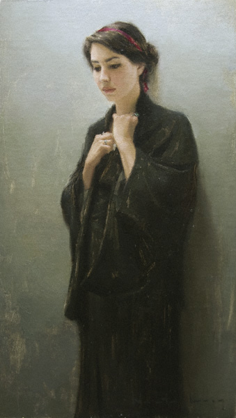 Locket (oil, 24x14) by Aaron Westerberg