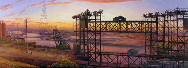 Calumet (oil, 18x49) by Arthur Chartow