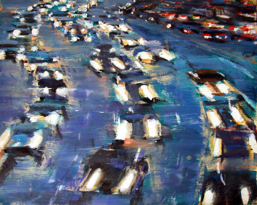 Long Island Expressway (oil, 48x60) by David Kapp