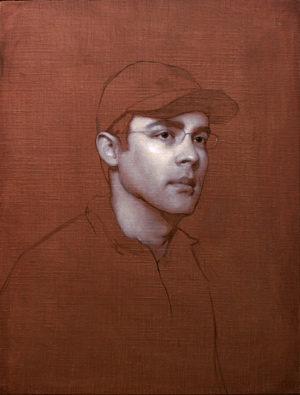 Portrait of Gregg (oil, 26x20) by Adrian Gottlieb, Step 2