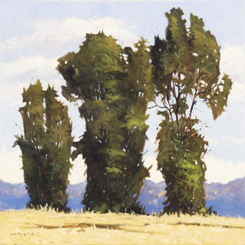 Three Cottonwoods by Jeff Hankins