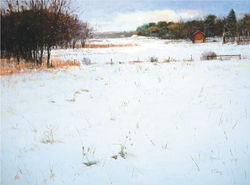 Meadow, Early December Snow by Peter Fiore