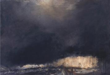 """""""Rainstorm Over Verrazzano Bridge"""" by Antonio Masi   Watercolor Techniques"""