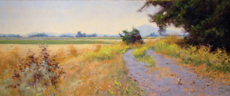 Levee Road (pastel) by Clark Mitchell