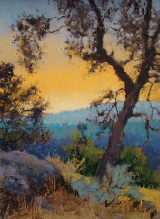 Sierra Sunrise (pastel) by Clark Mitchell
