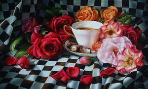 """""""Favorites"""" (oil, 18x30) by Arleta Pech"""