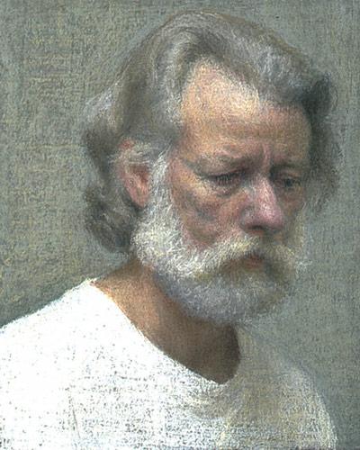 Edwin (pastel, 5 1/2x4 3/8) by Ellen Eagle