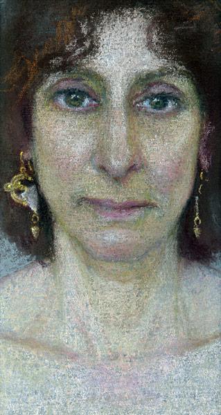 My Portrait Of  Julie (pastel, 4 1/4x2 1/2) by Ellen Eagle